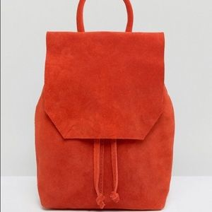 ASOS Red Suede Mini Backpack